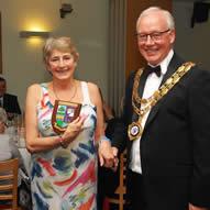 Janet Rockett receiving her Pride of Meltham Award