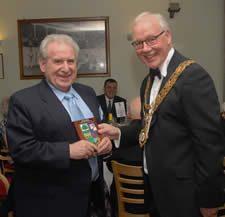 Norman Mellor receiving his Pride of Meltham Award