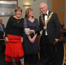 Meltham Walkers are Welcome receive their Pride of Meltham Award