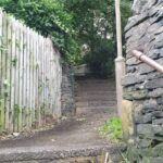 Photo of path after clearing